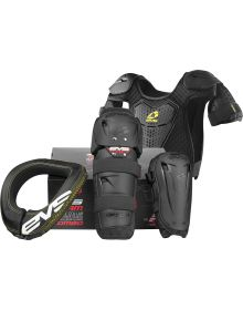 EVS Slam Combo Plus Protection R2 Collar/Option Knee/Elbow Guards/Bamtam Roost P