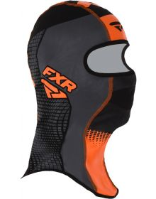 FXR Shredder Tech Balaclava Black/Charcoal/Orange