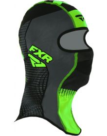 FXR Shredder Tech Balaclava Black/Charcoal/Lime