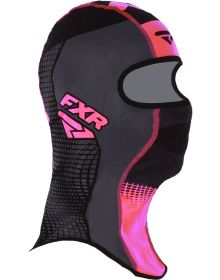 FXR Shredder Tech Balaclava Black/Charcoal/Electric Pink