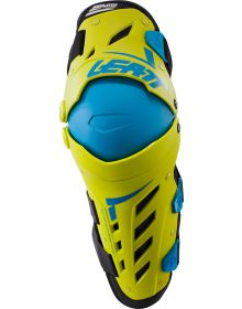 Leatt Dual Axis Knee & Shin Guard Lime/ Blue