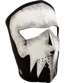 Zan Full Face Neoprene Mask Glow Grey Skull