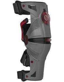 Mobius X8 Knee Brace Grey/Crimson Pair Medium