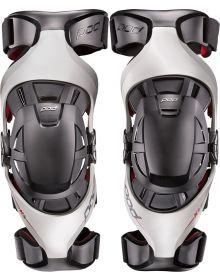 Pod MX K4 Premium Knee Brace Pair Gray/Red