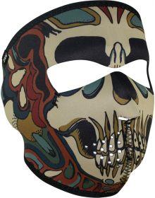 Zan Headgear Full Face Neoprene Mask Psychedelic Skull
