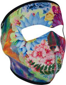 Zan Headgear Full Face Neoprene Mask Flower Skull