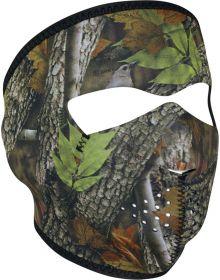 Zan Headgear Full Face Neoprene Mask Forest Camo