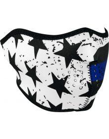 Zan Headgear Half Face Neoprene Mask Thin Blue Line