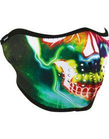Zan Headgear Half Face Neoprene Mask Neon Skull