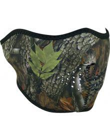 Zan Headgear Half Face Neoprene Mask Forest Camo