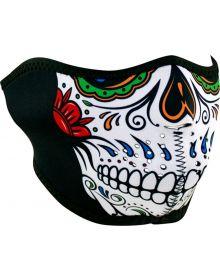 Zan Headgear Half Face Neoprene Mask Muerte Skull