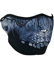 Zan Headgear Half Face Neoprene Mask Midnight Skull