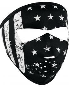 Zan Headgear Small Face Neoprene Mask B&W Flag