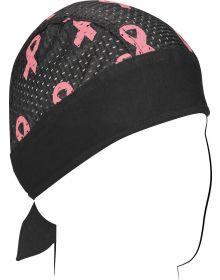 Zanhead Vented Sport Flydanna Head Wrap Pink Ribbon/Black