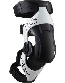 Pod MX K4 2.0 Knee Brace Pair White/Black