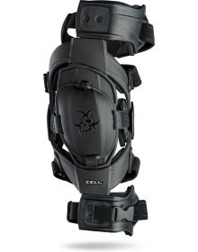Asterisk Junior Cell Youth Knee Brace Pair Black One-Size