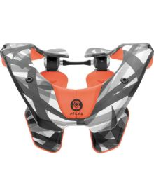 Atlas Prodigy Youth Neck Brace Orange Lazer