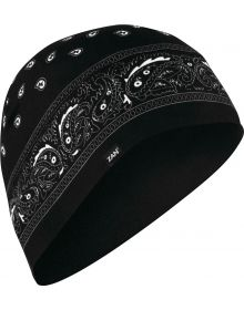 Zanhead Helmet Liner/Beanie Head Black Paisley