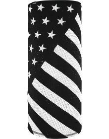 Zan Motley Tube Face Mask Black/White Flag