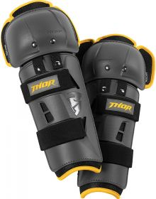 Thor Sector GP Knee Guard Youth Charcoal/Yellow
