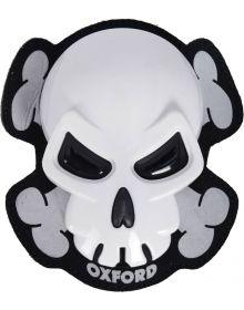 Oxford Skull Knee Sliders White