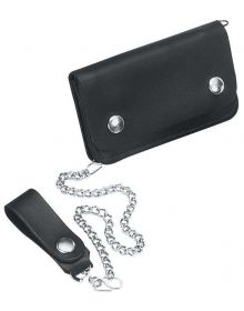 River Road Small Chain Wallet Black