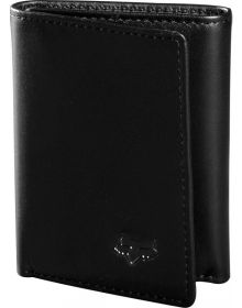 Fox Racing Trifold Leather Wallet Black