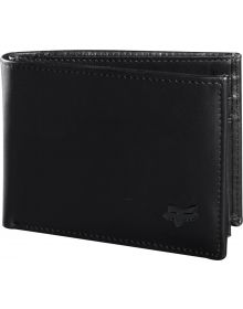 Fox Racing Bifold Leather Wallet Black
