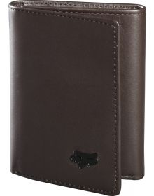 Fox Racing Trifold Leather Wallet Brown
