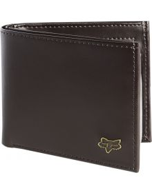 Fox Racing Bifold Leather Wallet Brown