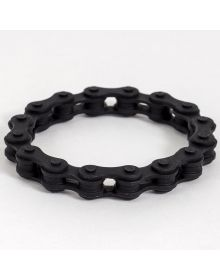 Moto365 Rubber Chain Wristband Black