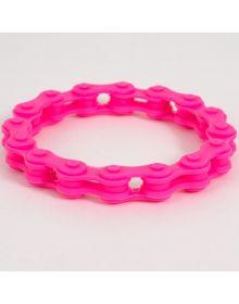 Moto365 Rubber Chain Wristband Pink