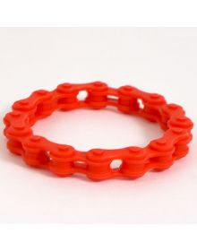 Moto365 Rubber Chain Wristband Red