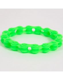 Moto365 Rubber Chain Wristband Green