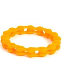 Moto365 Rubber Chain Wristband Orange
