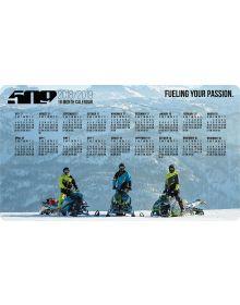 509 Snowmobile Magnet Calendar 2018/19