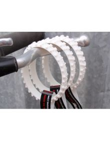 Ride-On Rubber Wristband Knobby Tire White