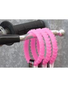 Ride-On Rubber Wristband Knobby Tire Glow In The Dark Pink