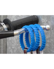 Ride-On Rubber Wristband Knobby Tire Glow In The Dark Blue
