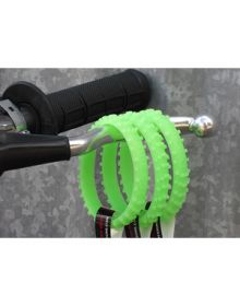 Ride-On Rubber Wristband Knobby Tire Glow In The Dark Green