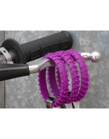 Ride-On Rubber Wristband Knobby Tire Purple