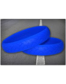 Ride On Road Rash Wristband Blue