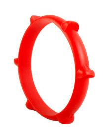 Ride-On Rubber Wristband Paddle Tire Red