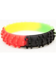 Ride-On Rubber Wristband Knobby Tire Rasta