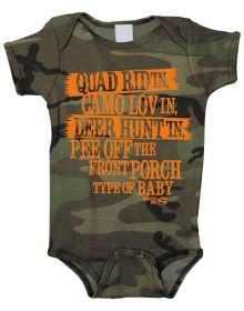 Smooth Industries Youth Rompers Quad Ridin Camo 12-18