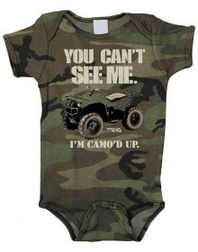 Smooth Industries Youth Rompers Cant See Me Camo 3-6
