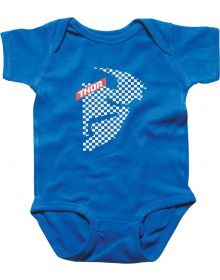 Thor Headchecked Romper Blue