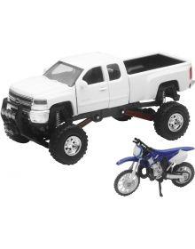 New Ray YZ125 W/Chevy Truck 1:32 Scale Toy Replica