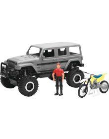 New Ray Toys Sahara Jeep W/Dirt Bike Replica Truck 1:18
