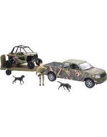 New Ray Toys Polaris RZR1000 Camo W/Truck 1:18 Scale Toy Replica
